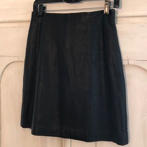 Theory.  Black leather skirt . Size 6